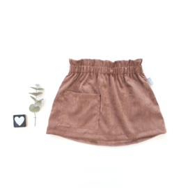 Skirt corderoy chocolat