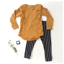 Legging/Broekje stripes DonkerBlauw / Grijs