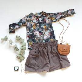 Paperbag skirt french terry