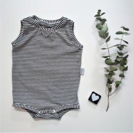 Bodysuit black& white stripes