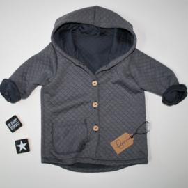 Hooded vest Diamond grey