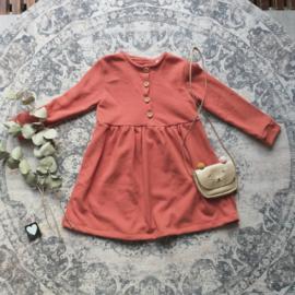 Geplooid jurkje fijn gebreid kleur keus