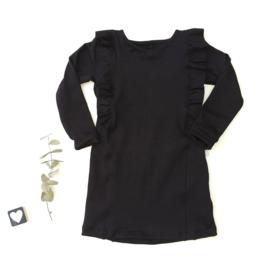 A-lijn jurk Ruffels Back&Front  FRENCH TERRYkleur keus