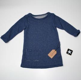 A-lijn sweaterstof spikkelstof blauw