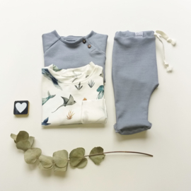 Raglan t-shirt rib kleur keus