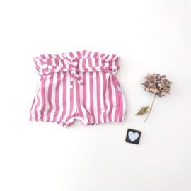 Short met centuur pink stripes