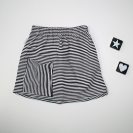 Skirt Black&White stripes