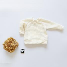 Sweater jersey corduroy kleurkeus