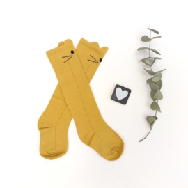 Knie kousen Cat oker