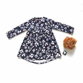 Geplooide jurk flowers