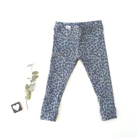 Legging/Broekje luipaard blauw/grijs