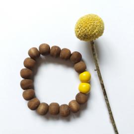 Houten kralen armband bruin