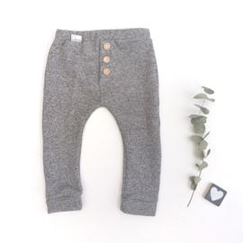 Legging/broekje sweaterstof grijs gemerleerd