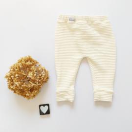 Legging/broekje  horizontaal Jersey corderoy  kleurkeus
