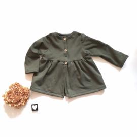 Geplooid vestje frenche terry Kleur keus