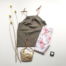 Legging/Broekje pink roos