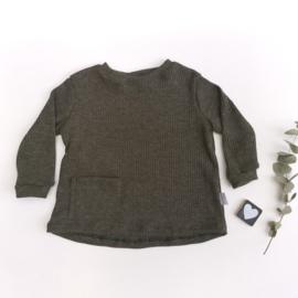 Wijde trui Jersey Rib kleur keus