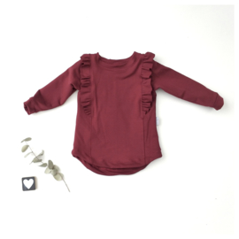 Longsleeve Ruffels BackFront sweaterstof Bordo