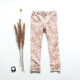 Legging/Broekje  brown flower
