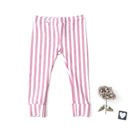 Legging/Broekje  roze gestreept