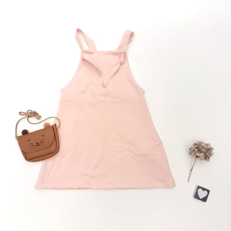 Salopette dress zalm