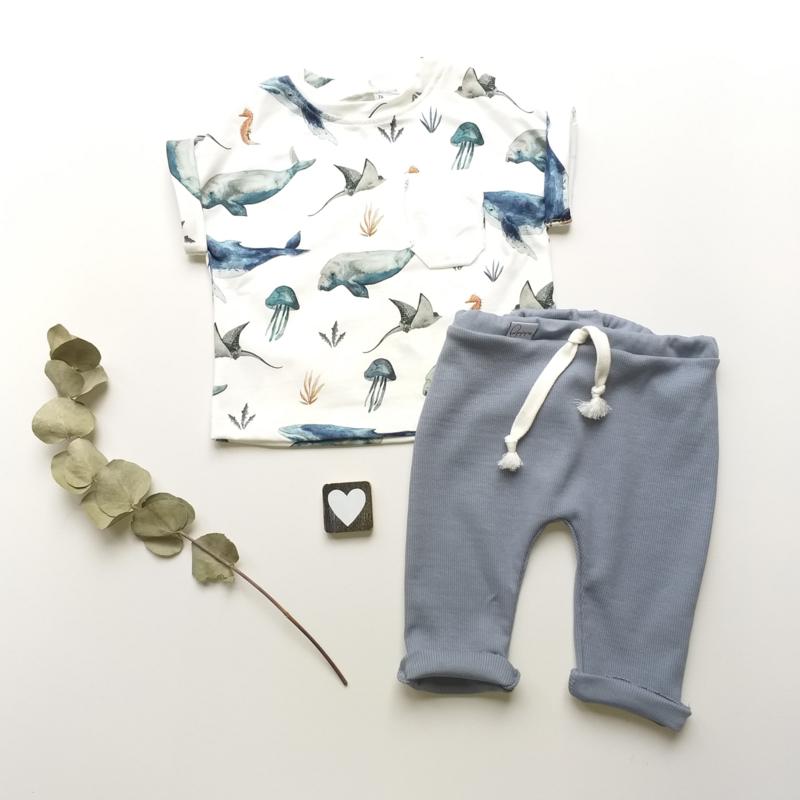 Legging/Broekje mistiq blue