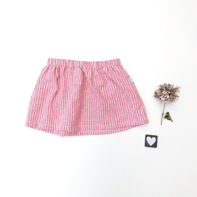 Skirt rood gestreept katoen