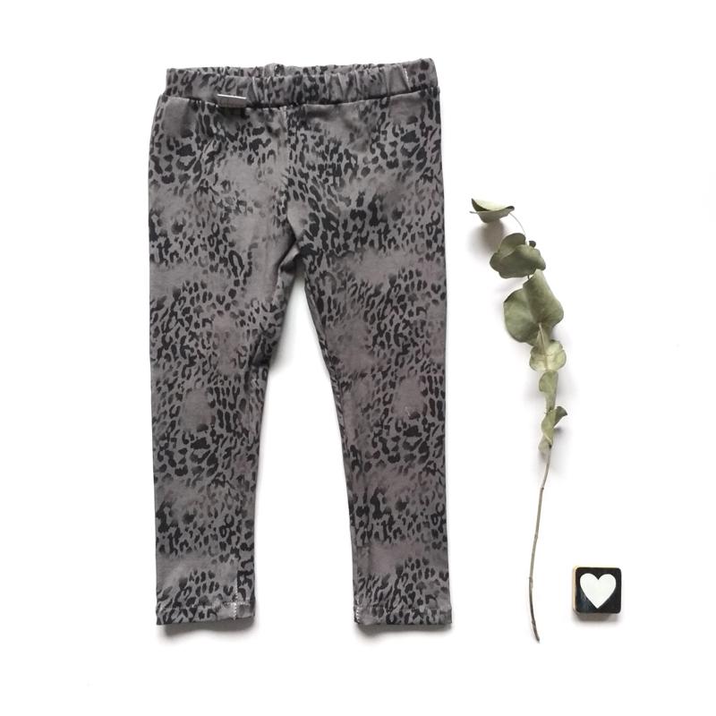 Legging/Broekje  panter grijs