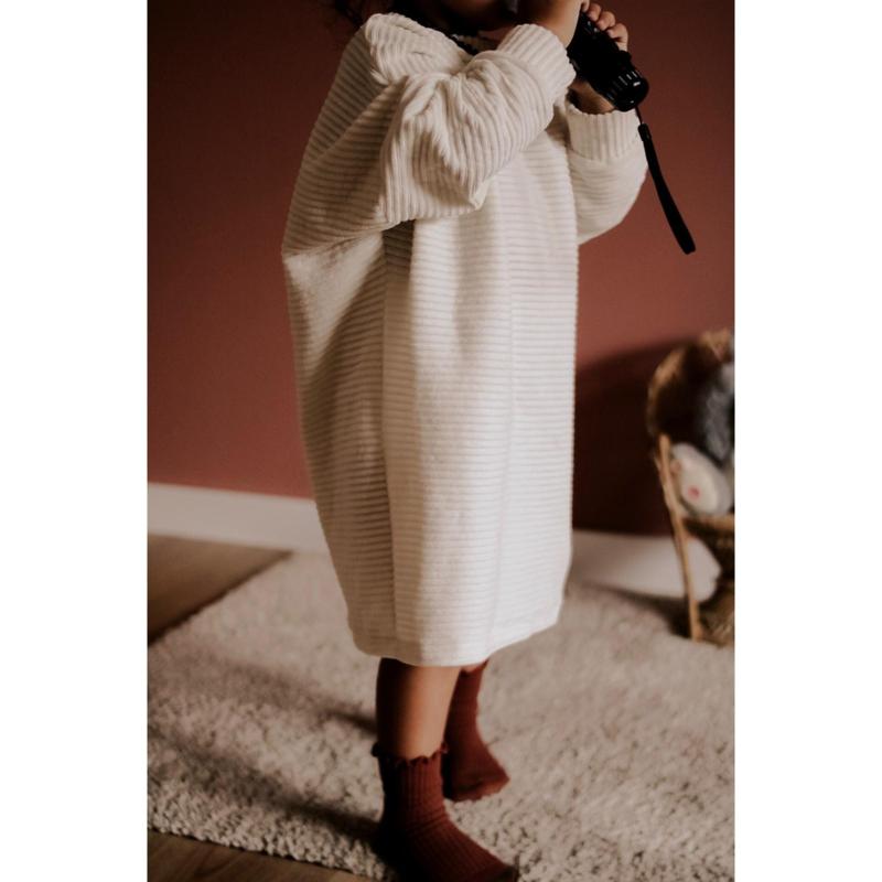 Oversized dress cordurody kleurkeus