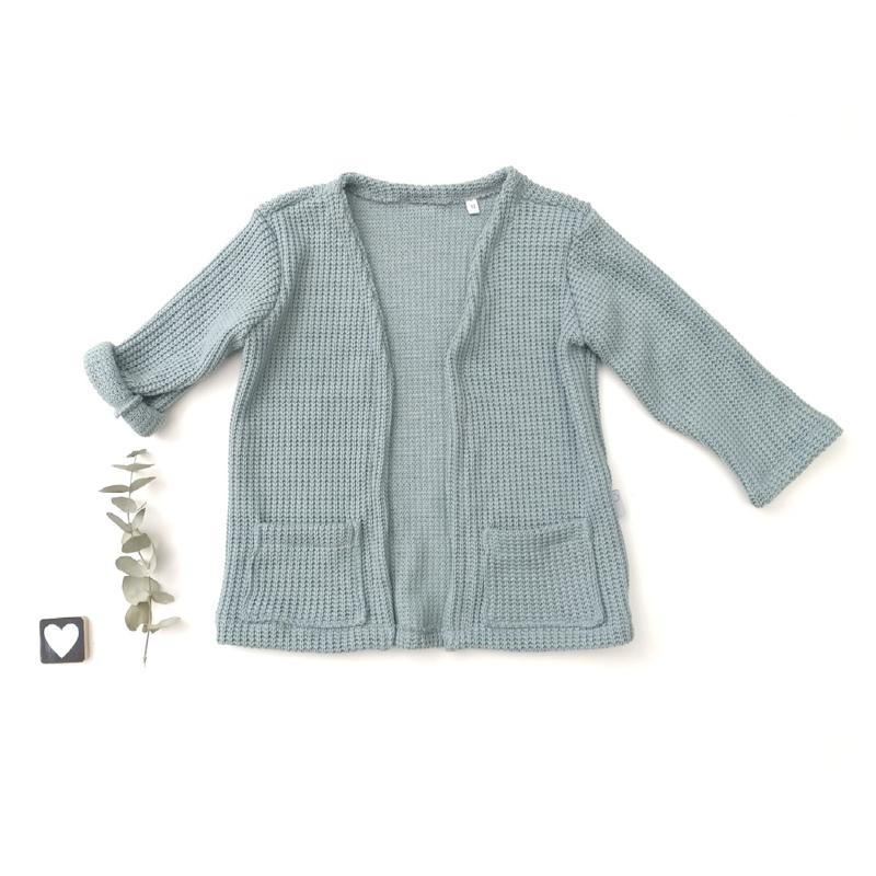 Knitted cardigan oud groen