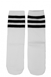 KNIEKOUSEN WHITE BLACK STRIPES
