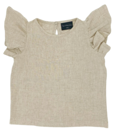 SHIRT VLINDERMOUW LINNEN LOOK NATUREL