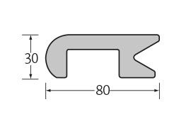 randafwerkingsprofiel  80 x 30 mm 1 x 4 m¹