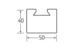 aluminium verbindings bevestigingsprofiel 50 x 40 mm 1 x 0,35 m¹
