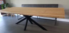 Eiken boomstamtafel Katy 4,5cm excl. onderstel
