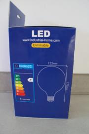 GLOBE LED LAMP AMBER GOLD GLASS 125MM