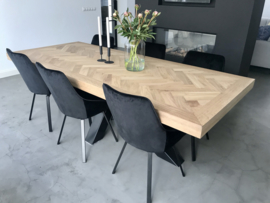 Visgraat eiken tafelblad Mosina excl onderstel