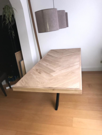 Visgraat eiken tafelblad Osla vierkant