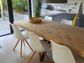 Visgraat eiken tafelblad Osla excl onderstel