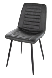 Morgen stoel leather anthracite (2x)