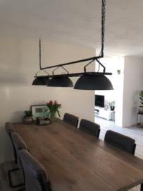 INDUSTRIËLE EETTAFEL LAMP OSTROW MET X AANTAL GRIJZE KAPPEN