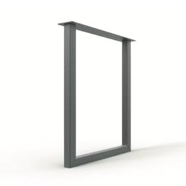 U onderstel set voor een bar van metaal in 5x5, 8x4, 10x10 of 12x12cm