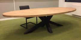 Eiken ovale tafelblad Obra excl. onderstel