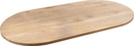 Eiken halve cirkel tafelblad verlijmd 40mm dik
