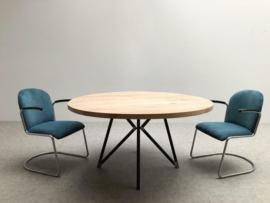 Metalen vlinderpoot voor ronde of ovale tafels