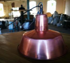 INDUSTRIËLE LAMP 32CM ENAMEL KOPER GLANS