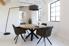 Ronde eiken tafel Rowy Matrix 10x10  (4,5cm dik blad)