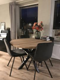 Ronde eiken tafel Rowy Matrix 8x4cm (4,5cm dik blad)