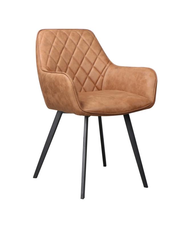Dior stoel leather cognac (set van 2)