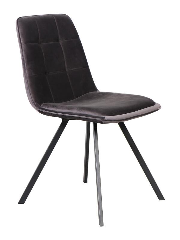 Marbel stoel velvet anthracite (2x)